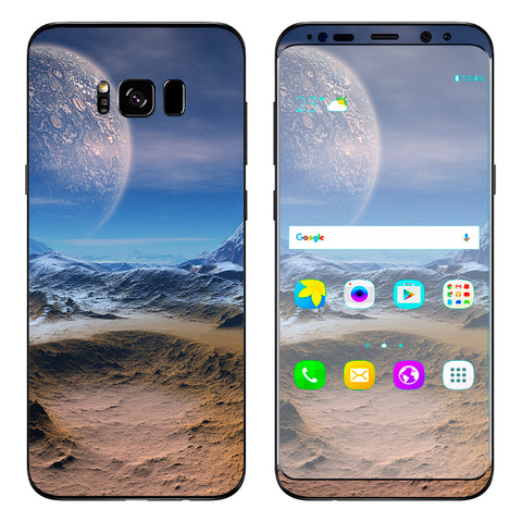 Space Planet Moon Surface Outerspace Samsung Galaxy S8 Plus Skin