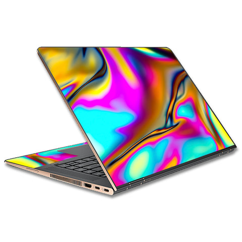 Oil Slick Resin Iridium Glass Colors HP Spectre x360 13t Skin