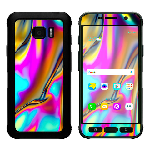 Oil Slick Resin Iridium Glass Colors Samsung Galaxy S7 Active Skin