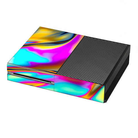 Oil Slick Resin Iridium Glass Colors Microsoft Xbox One Skin