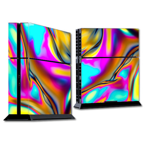 Oil Slick Resin Iridium Glass Colors Sony Playstation PS4 Skin