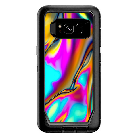 Oil Slick Resin Iridium Glass Colors Otterbox Defender Samsung Galaxy S8 Skin