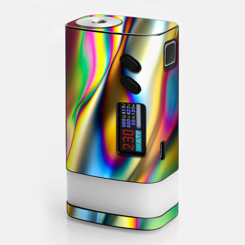 Oil Slick Rainbow Opalescent Design Awesome Sigelei Fuchai Glo 230w Skin