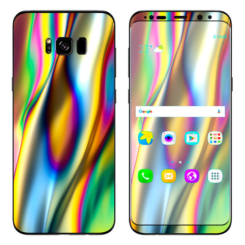 Oil Slick Rainbow Opalescent Design Awesome Samsung Galaxy S8 Plus Skin