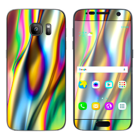 Oil Slick Rainbow Opalescent Design Awesome Samsung Galaxy S7 Skin