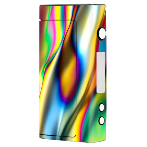 Oil Slick Rainbow Opalescent Design Awesome Sigelei Fuchai 200W Skin
