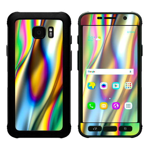 Oil Slick Rainbow Opalescent Design Awesome Samsung Galaxy S7 Active Skin