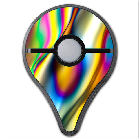 Oil Slick Rainbow Opalescent Design Awesome Pokemon Go Plus Skin