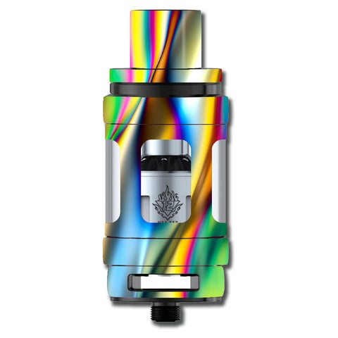 Oil Slick Rainbow Opalescent Design Awesome Smok TFV12 Cloud King Beast  Skin
