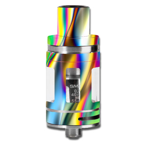 Oil Slick Rainbow Opalescent Design Awesome Smok TFV8 Micro Baby Beast  Skin