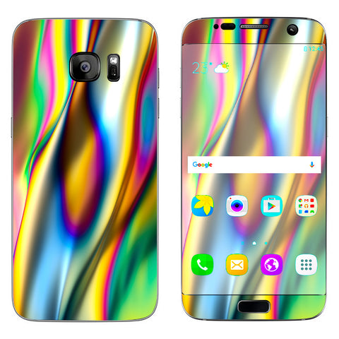 Oil Slick Rainbow Opalescent Design Awesome Samsung Galaxy S7 Edge Skin