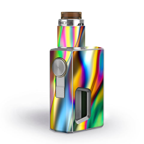 Oil Slick Rainbow Opalescent Design Awesome Geekvape Athena Squonk Skin