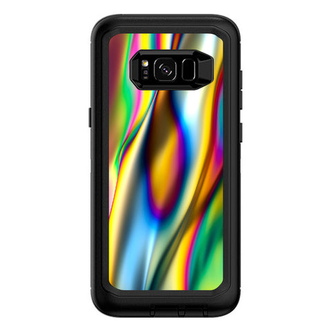 Oil Slick Rainbow Opalescent Design Awesome Otterbox Defender Samsung Galaxy S8 Plus Skin