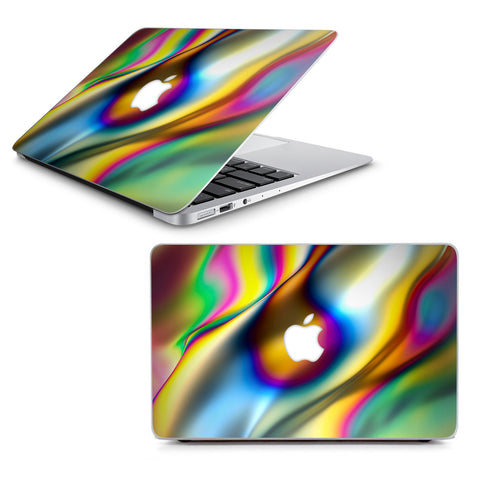 "Oil Slick Rainbow Opalescent Design Awesome Macbook Air 11"" A1370 A1465 Skin"