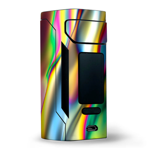 Oil Slick Rainbow Opalescent Design Awesome Wismec RX2 20700 Skin