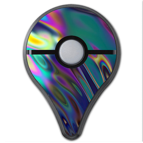 Oil Slick Opal Colorful Resin  Pokemon Go Plus Skin