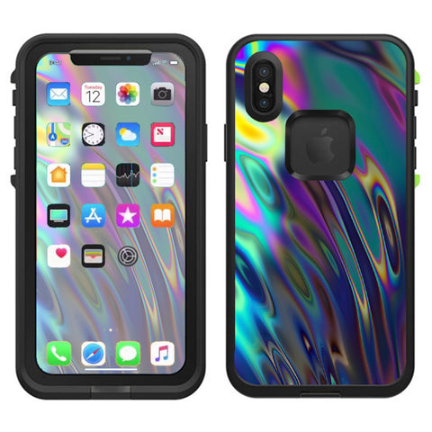 Oil Slick Opal Colorful Resin  Lifeproof Fre Case iPhone X Skin