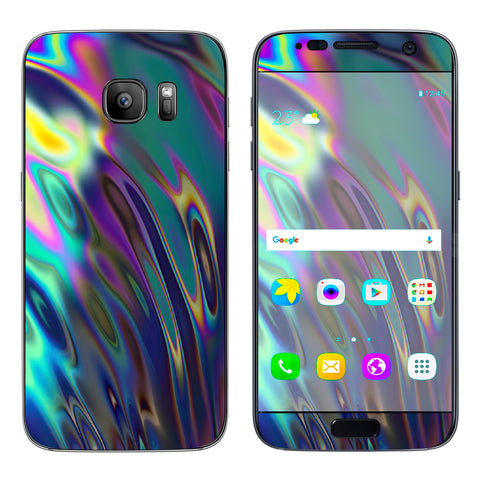 Oil Slick Opal Colorful Resin  Samsung Galaxy S7 Skin