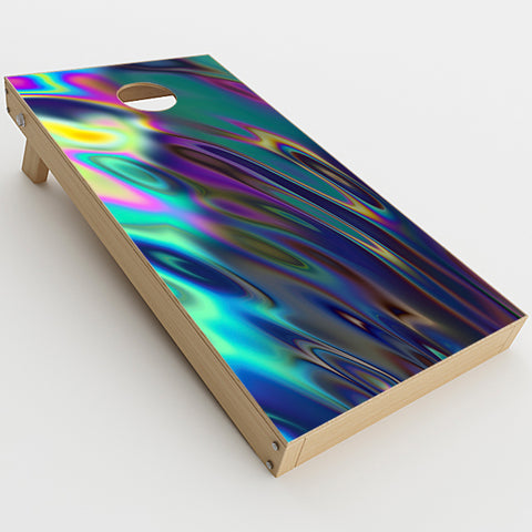 Oil Slick Opal Colorful Resin   Cornhole Game Board (2 pcs.) Skin