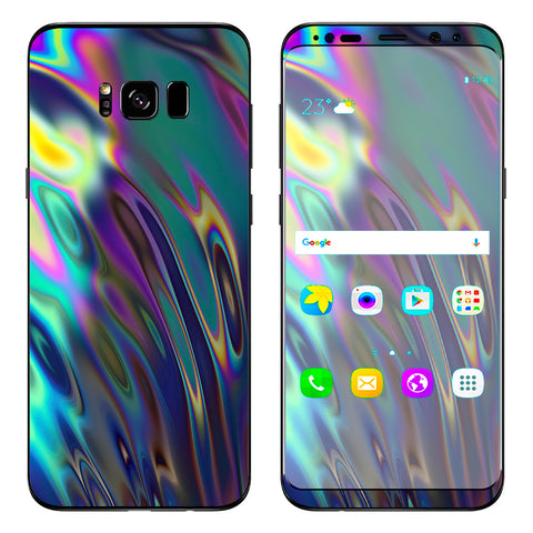 Oil Slick Opal Colorful Resin  Samsung Galaxy S8 Plus Skin