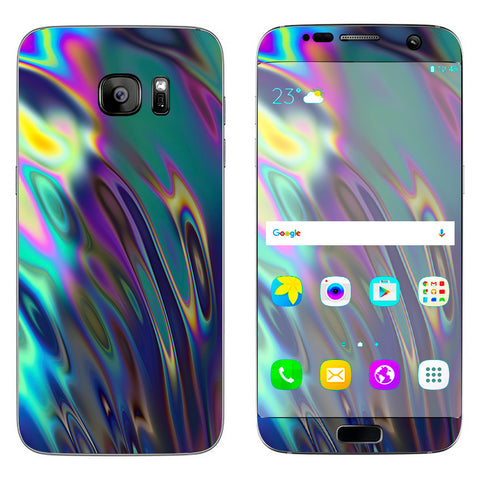 Oil Slick Opal Colorful Resin  Samsung Galaxy S7 Edge Skin