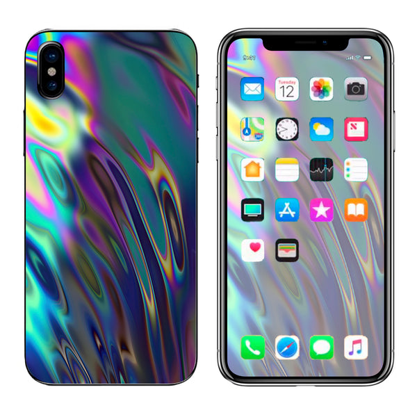 Oil Slick Opal Colorful Resin  Apple iPhone X Skin