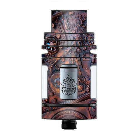 Steampunk Metal Panel Vault Fan Gear TFV8 X-baby Tank Smok Skin