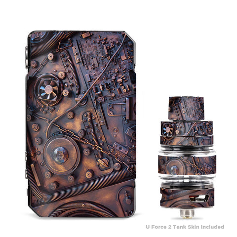 Steampunk Metal Panel Vault Fan Gear VooPoo Drag Mini Skin