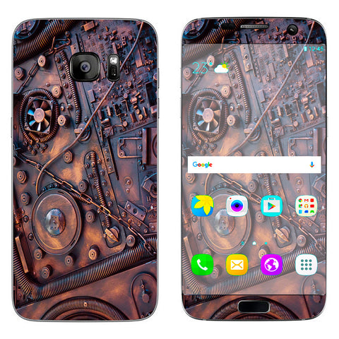 Steampunk Metal Panel Vault Fan Gear Samsung Galaxy S7 Edge Skin