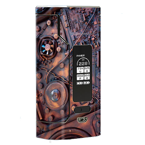 Steampunk Metal Panel Vault Fan Gear Wismec Predator 228W Skin