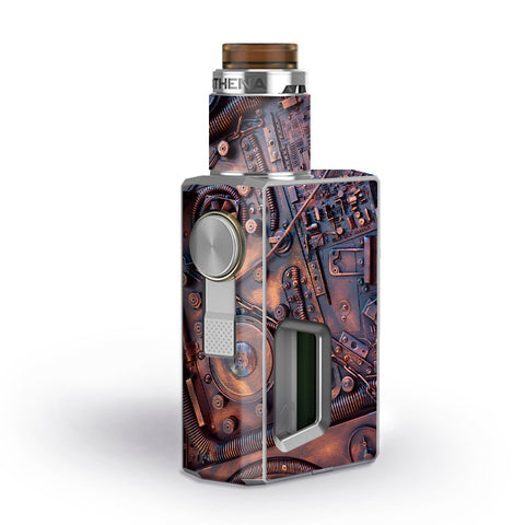 Steampunk Metal Panel Vault Fan Gear Geekvape Athena Squonk Skin