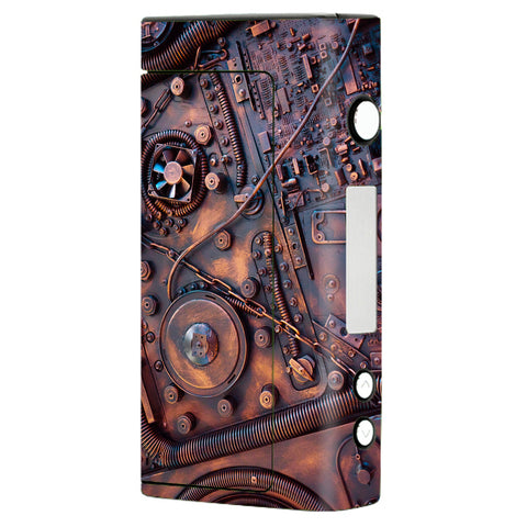 Steampunk Metal Panel Vault Fan Gear Sigelei Fuchai 200W Skin