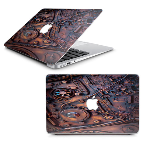 "Steampunk Metal Panel Vault Fan Gear Macbook Air 11"" A1370 A1465 Skin"