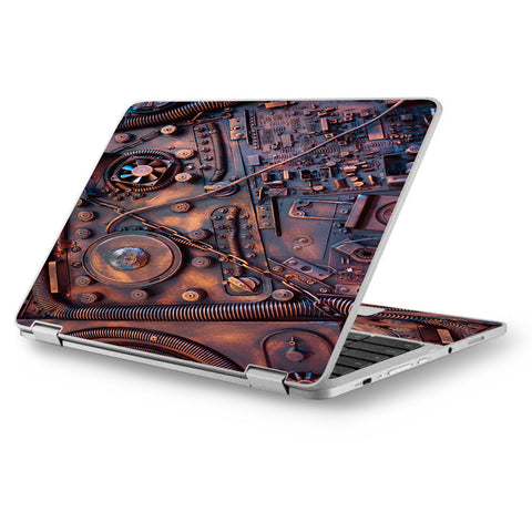 "Steampunk Metal Panel Vault Fan Gear Asus Chromebook Flip 12.5"" Skin"