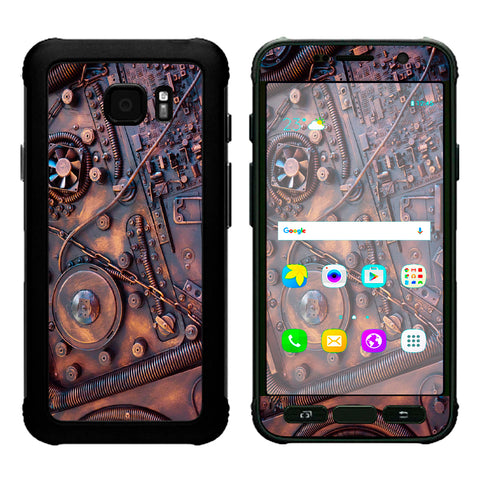Steampunk Metal Panel Vault Fan Gear Samsung Galaxy S7 Active Skin