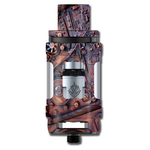 Steampunk Metal Panel Vault Fan Gear Smok TFV12 Cloud King Beast  Skin