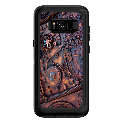 Steampunk Metal Panel Vault Fan Gear Otterbox Defender Samsung Galaxy S8 Plus Skin