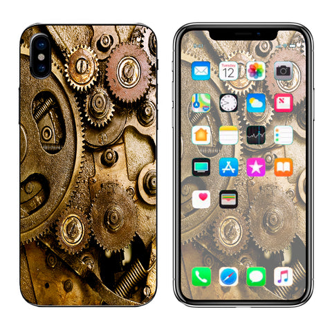 Steampunk Gears Steam Punk Old Apple iPhone X Skin