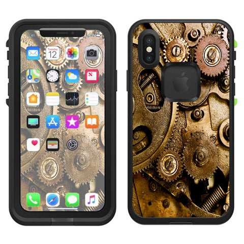 Steampunk Gears Steam Punk Old Lifeproof Fre Case iPhone X Skin