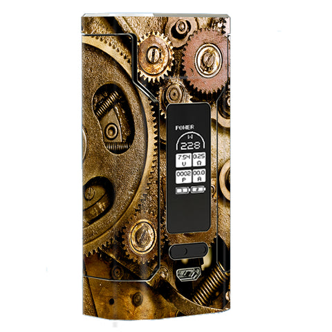 Steampunk Gears Steam Punk Old Wismec Predator 228W Skin