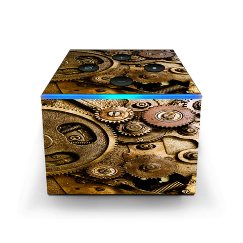 Steampunk Gears Steam Punk Old Amazon Fire TV Cube Skin