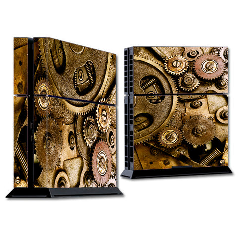 Steampunk Gears Steam Punk Old Sony Playstation PS4 Skin