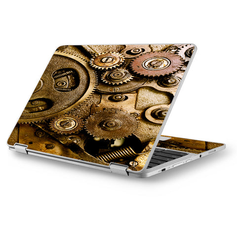 "Steampunk Gears Steam Punk Old Asus Chromebook Flip 12.5"" Skin"