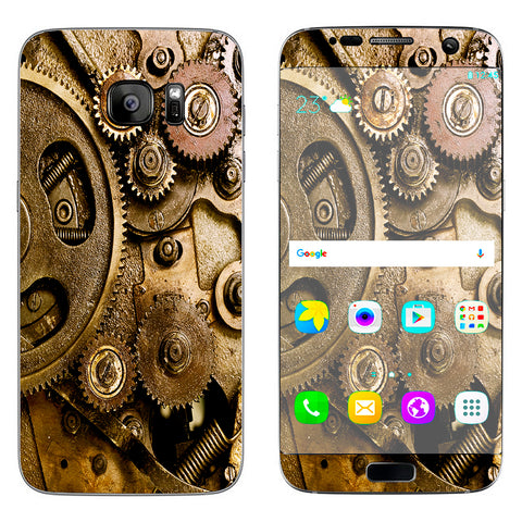 Steampunk Gears Steam Punk Old Samsung Galaxy S7 Edge Skin