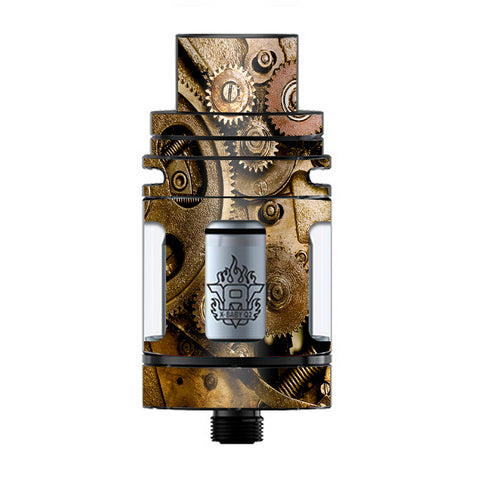 Steampunk Gears Steam Punk Old TFV8 X-baby Tank Smok Skin