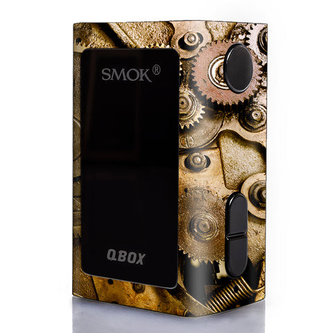 Steampunk Gears Steam Punk Old Smok Qbox 50w tc Skin