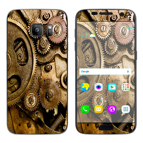Steampunk Gears Steam Punk Old Samsung Galaxy S7 Skin