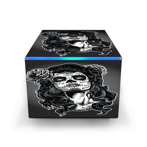 Sugar Skull Girl Dia De Los Meurtos Amazon Fire TV Cube Skin