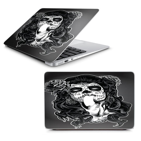"Sugar Skull Girl Dia De Los Meurtos Macbook Air 11"" A1370 A1465 Skin"