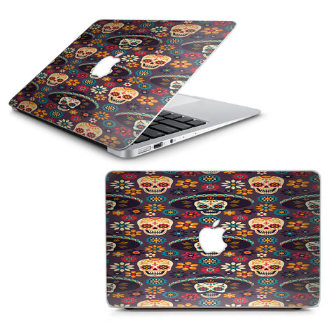 "Sugar Skulls Sombrero Day Of The Dead Macbook Air 11"" A1370 A1465 Skin"